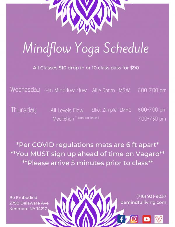 Yoga Schedule 6 pm
